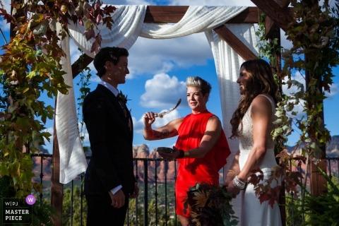 Rebekah Sampson, de l'Arizona, est une photographe de mariage pour Sedona Sky Ranch Lodge, Sedona Az.