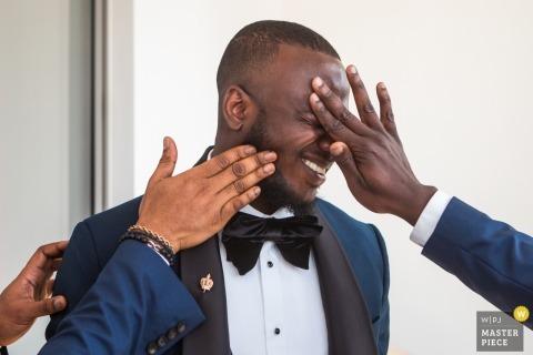 London wedding photo | Nigerian wedding Photo of a groom in London