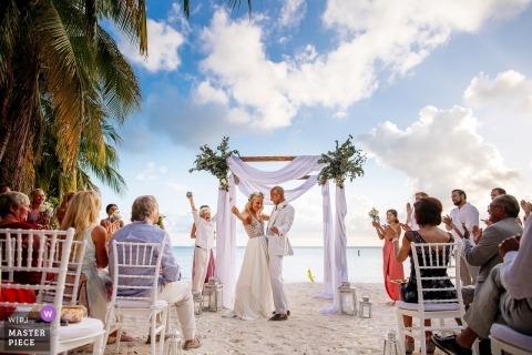 Mexico Destination Wedding Photography | Bride + Groom Ceremony Boogie | Zamas, Isla Mujeres, Mexico
