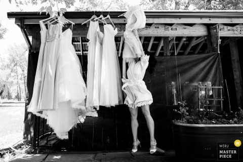 When the shortest bridesmaid has to get the dresses | Lyons, CO