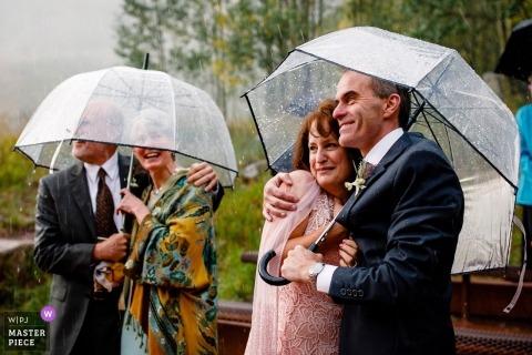 Maroon Bells Aspen Wedding | Parents soaking it all in | Aspen, CO