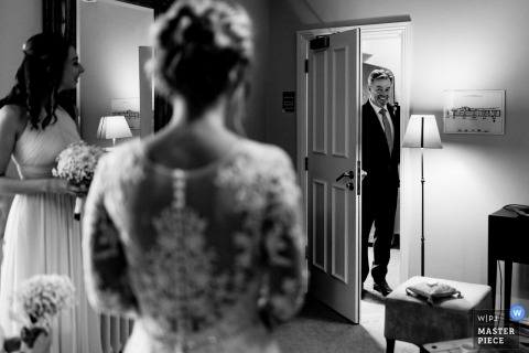 First look wedding pictures by Dartington photographer