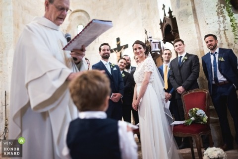 Sainte Colombe, France Wedding Photograph from the Ceremony