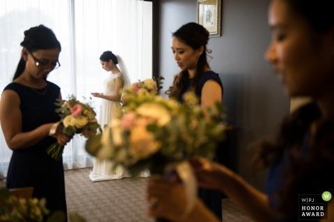 Bridal Bouquets in Melbourne - AU - Victoria Wedding Photo with Bride and Bridesmaids