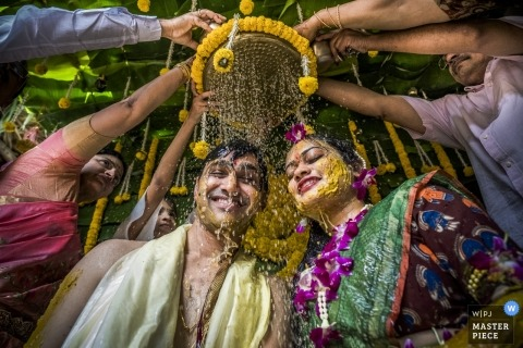 Vijyawada couple during their Indian wedding ceremony