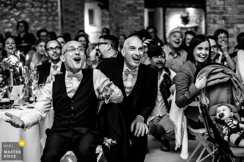 Savoie wedding reception photo | wedding photography filled with laughter