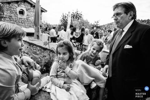Kids will be kids - Génolhac, France wedding photos