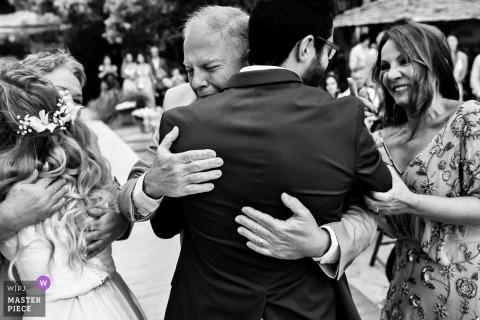 Trancoso/BA - Brazil - Emotion Hugs Captured in Wedding Photograph