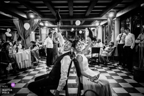 Cuorgnè Turin Reception - Torino Wedding Photograph of Shoe Game