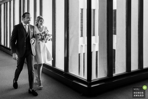 French Wedding Photograph of Bride and Groom in Burgundy