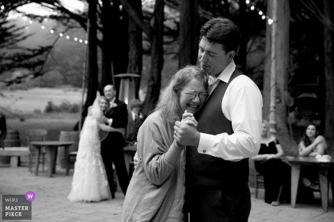 Mother son dance at Spring Ranch Mendocino CA