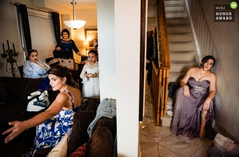 Guests waiting for the bride. Relax before the storm. - Toronto, Canada