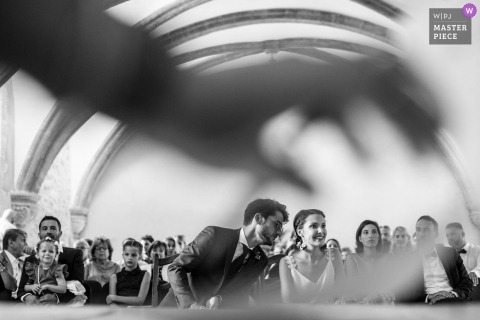 aix en provence wedding photos from this black and white ceremony
