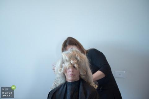 Hochzeitsfotos von blonden Haaren, die ein Workover von einem Melbourne-Fotografen erhalten