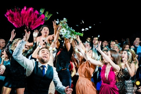 Belo Horizonte - Minas Gerais - Hochzeitsempfangphotographie Brasiliens Nachtim freien.