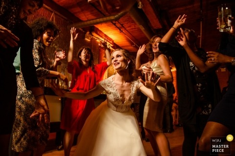 The Dumbo Loft - wedding photograph of dancing bride