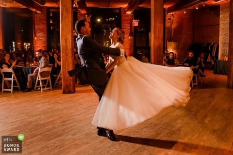 The Dumbo Loft reception dance - couple during their wedding dance