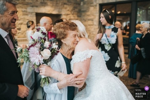 So much love between grandma and bride after wedding | Ohio wedding photography