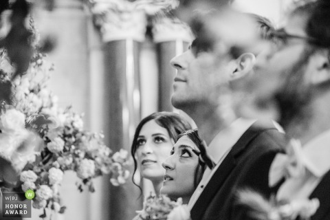 Paris wedding photography from the ceremony with bride and bridesmaid