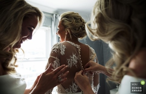 Wedding photo shoot during getting ready in Surrey - Bridal preparations