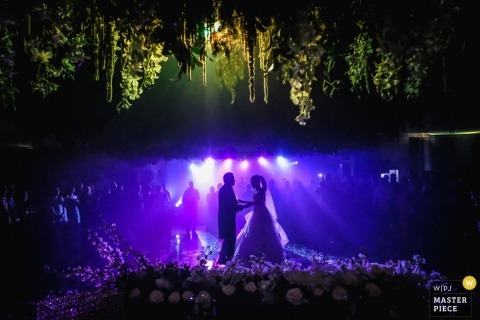 Ciudad Victoria, Mexico wedding shoot with a couple at their well lit reception