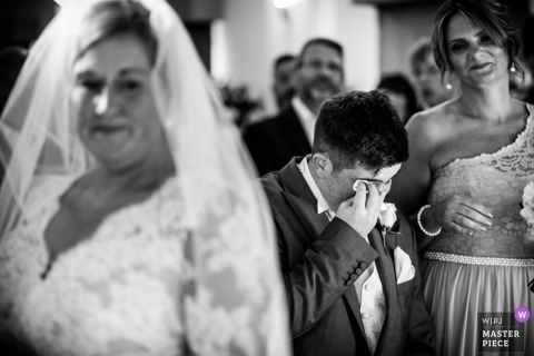 Hertfordshire tears during Stoke Place, UK wedding ceremony
