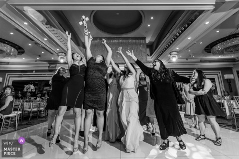 Anoush Banquet Hall Bouquet Toss during Wedding Reception