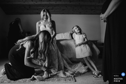 Nicky Byrnes, uit Californië, is een trouwfotograaf voor Tahoe City, CA