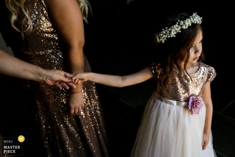 Church Wedding photography in LA of a Flower Girl