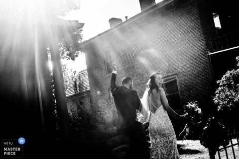 Denver Wedding Photograph of a bride and groom | Looking back at your ceremony