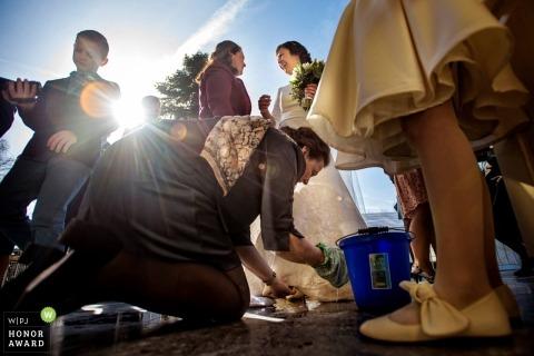 Hochzeitsempfang Zuid Holland im Freien in der Sonne