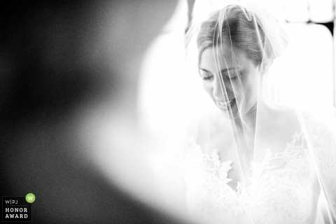 Temple Church, London wedding photography of bride at the church