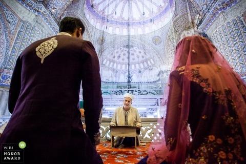 Wedding ceremony shoot with Istanbul couple
