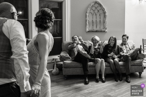 Great Oak Manor, Chestertown, Maryland | Wedding reception photos of guests seated during dancing