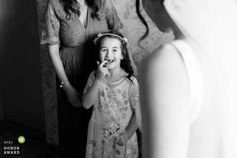 Munster 	Dromquinna Manor, Kerry wedding photo | Not Shy At All about missing teeth for this girl
