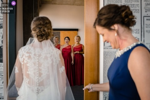 Madison, WI wedding photography of bride getting ready.