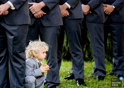Cedar Ridge Farm, Sykesville MD | Ring bearer during the ceremony
