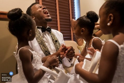 Did you kiss her? | GA flower girls question the groom
