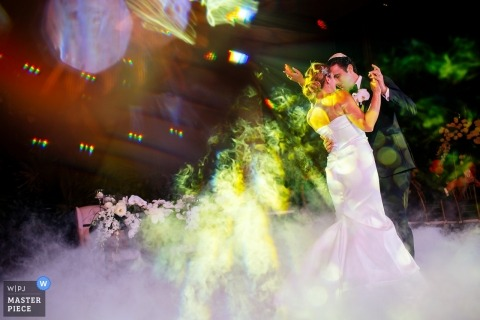 Quintana Roo wedding photo of bride and groom dancing their first dance - Melissa Mercado, of Nizuc