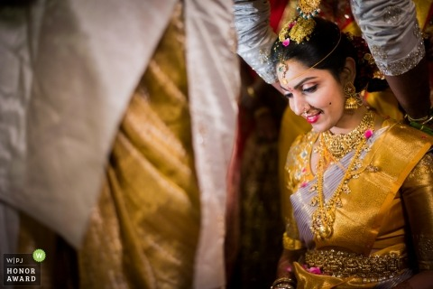 Documentary wedding photography of bride at Hyderabad