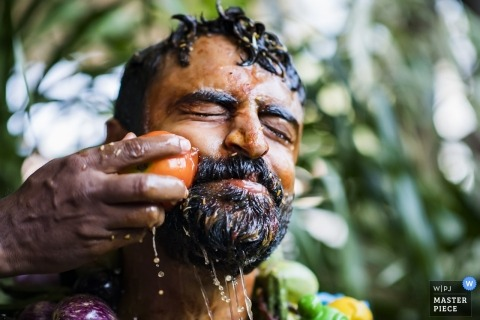 Fotos de la recepción de boda Telangana en India