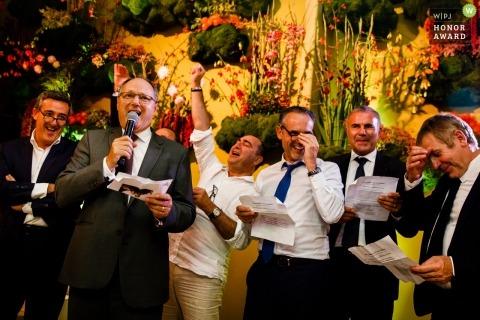Dokumentalna fotografia ślubna Flandrii podczas wystąpień weselnych
