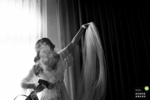 San Jose-Hochzeitsfoto des Schleiers der Braut, der Dampf erhält | CA Hochzeitsfotografie
