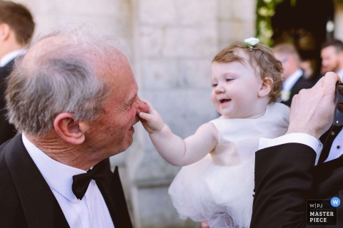 Kilkenny Wedding Photographer | Honk his nose if you're happy | Kids having fun at a wedding