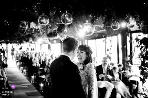 Indoor Wedding ceremony at Dewsall Court, Herefordshire, UK