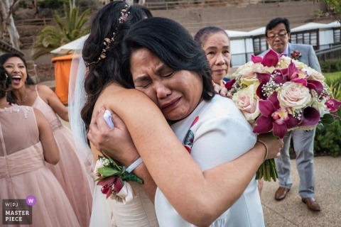 Catalina Island Wedding Hug | California  Wedding Photography