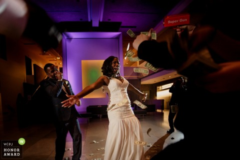 Phoenix couple doing The Money Dance during their wedding reception