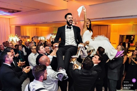 wedding reception photography at a Cape Cod event | MA wedding dance floor action