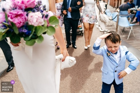 The Case, Leicester | Northamptonshire Wedding Ceremony Photograph of ring bearer boy