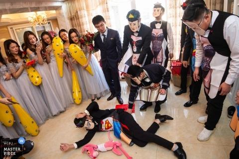 Fotografia ślubna dla Chin moment pokrycie na wesela Guangdong